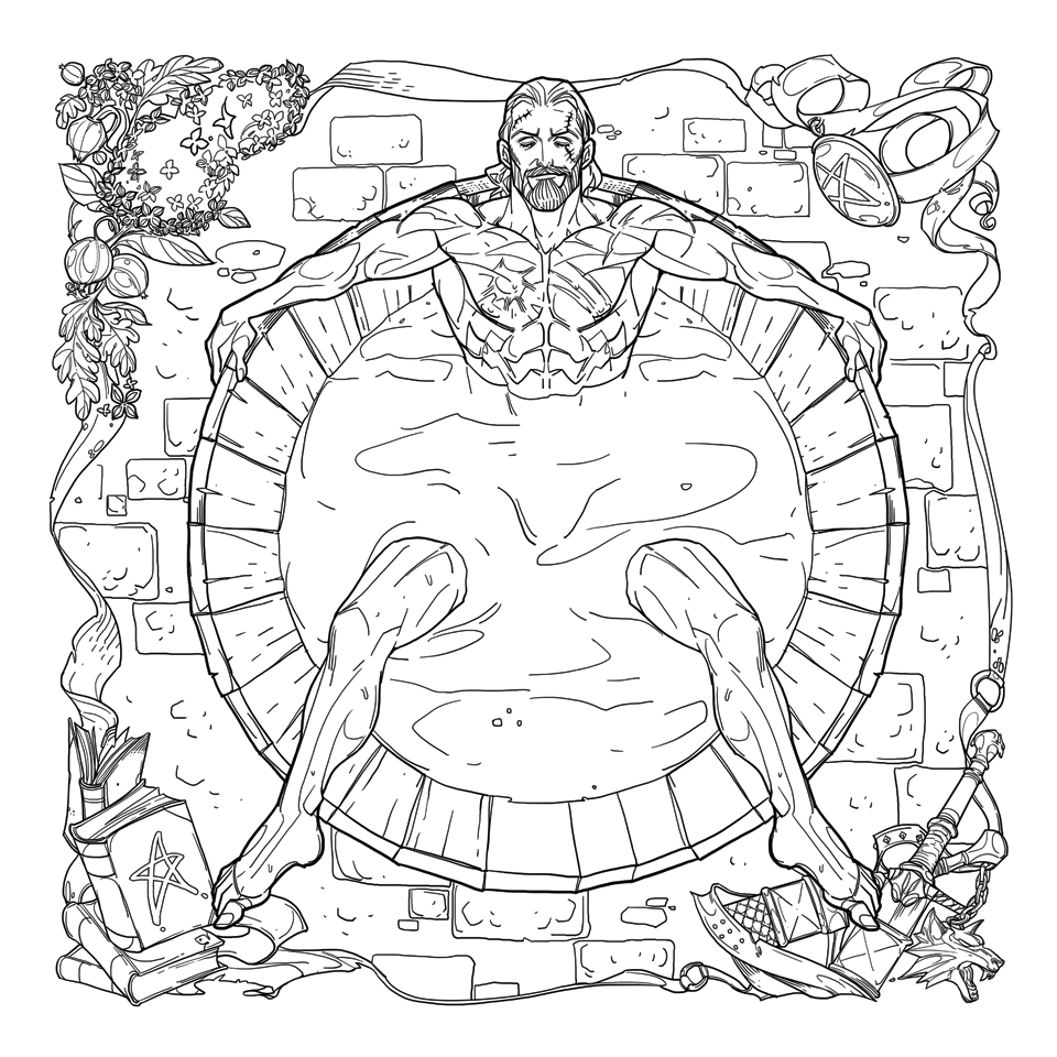 The-Witcher-Adult-Coloring-Book-Page-1