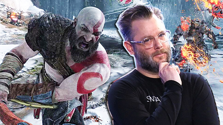 God of War Cory Barlog pose