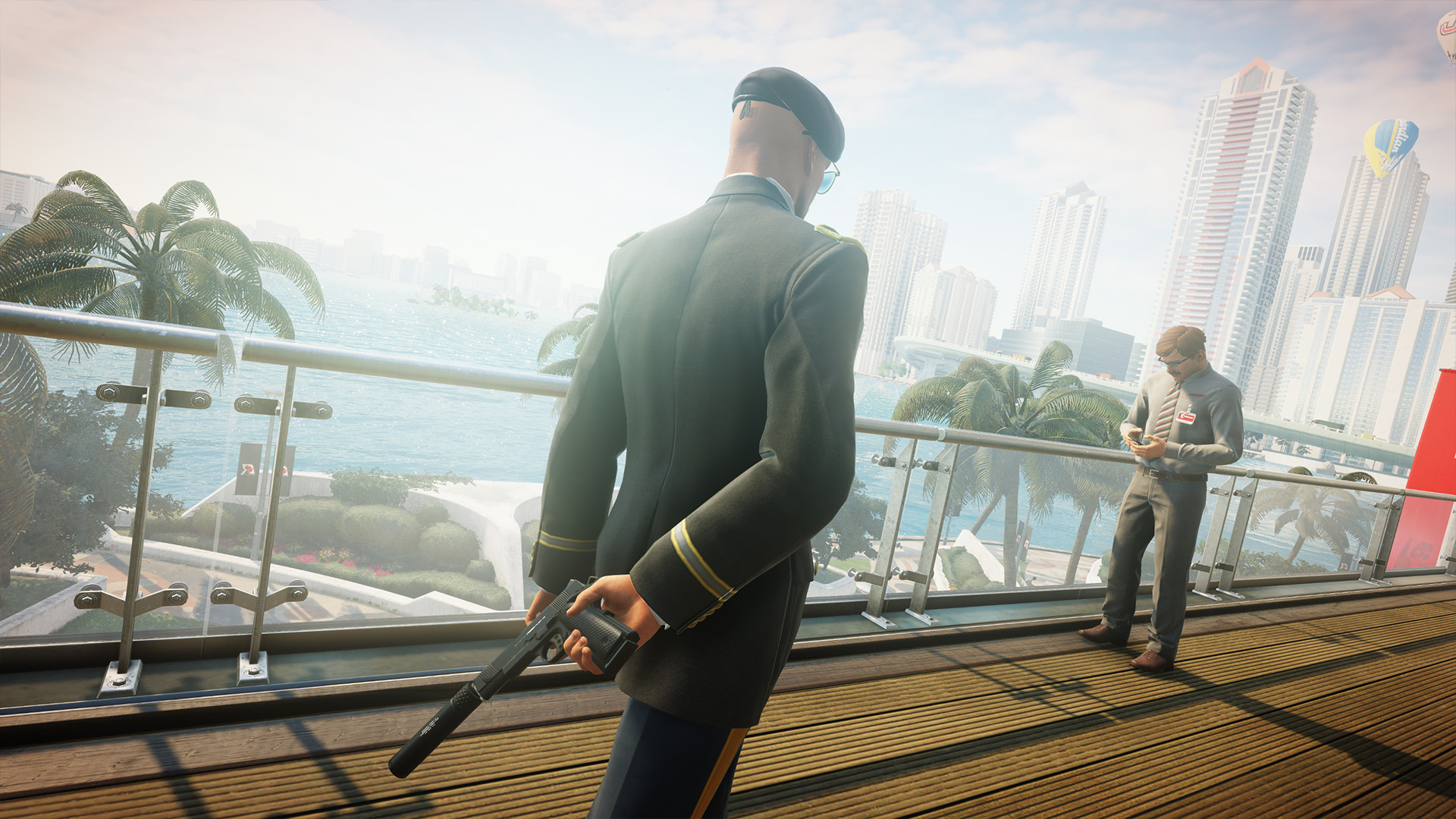 Hitman 2, kale agent in uniform silencer Miami