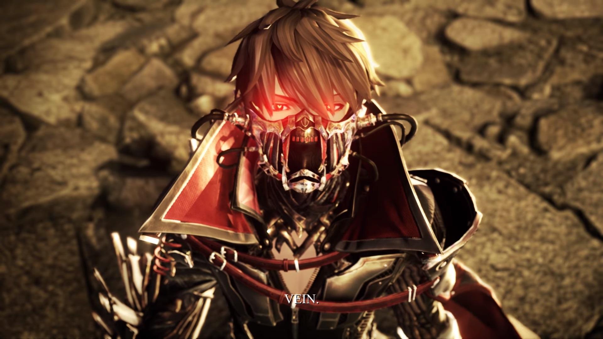 Code Vein looking mask glow eyes