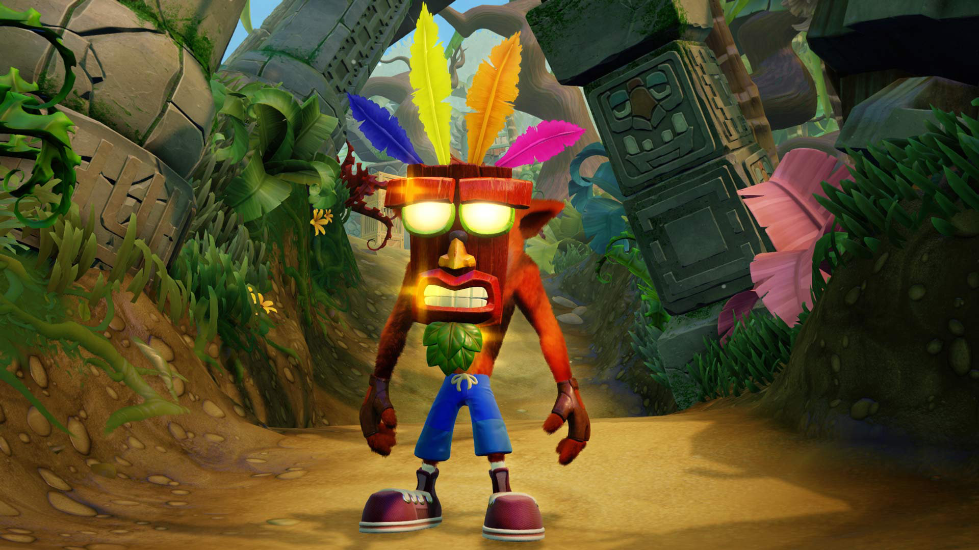 Crash Bandicoot mask trilogy jungle