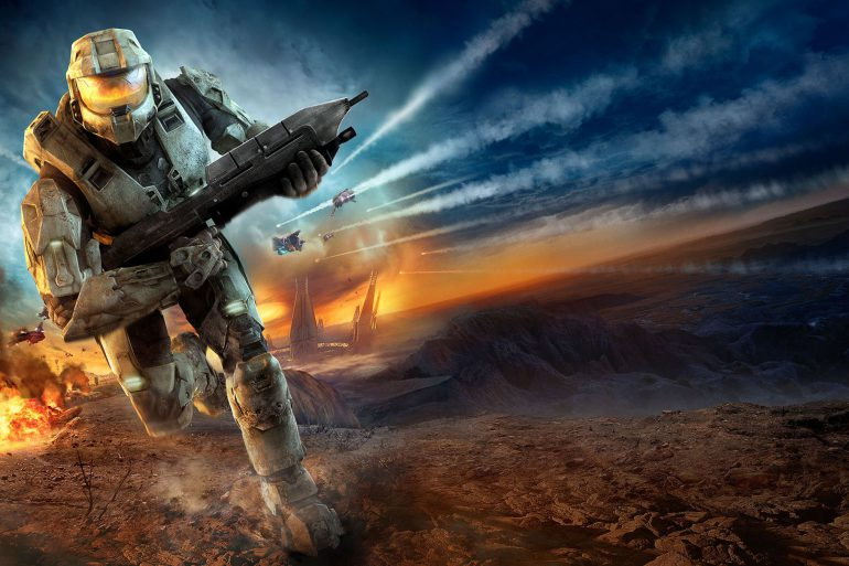 Halo tv master chief running explosion