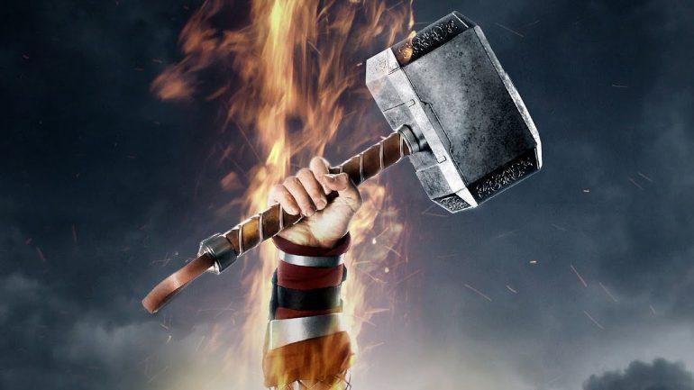 ban hammer fist holding thor
