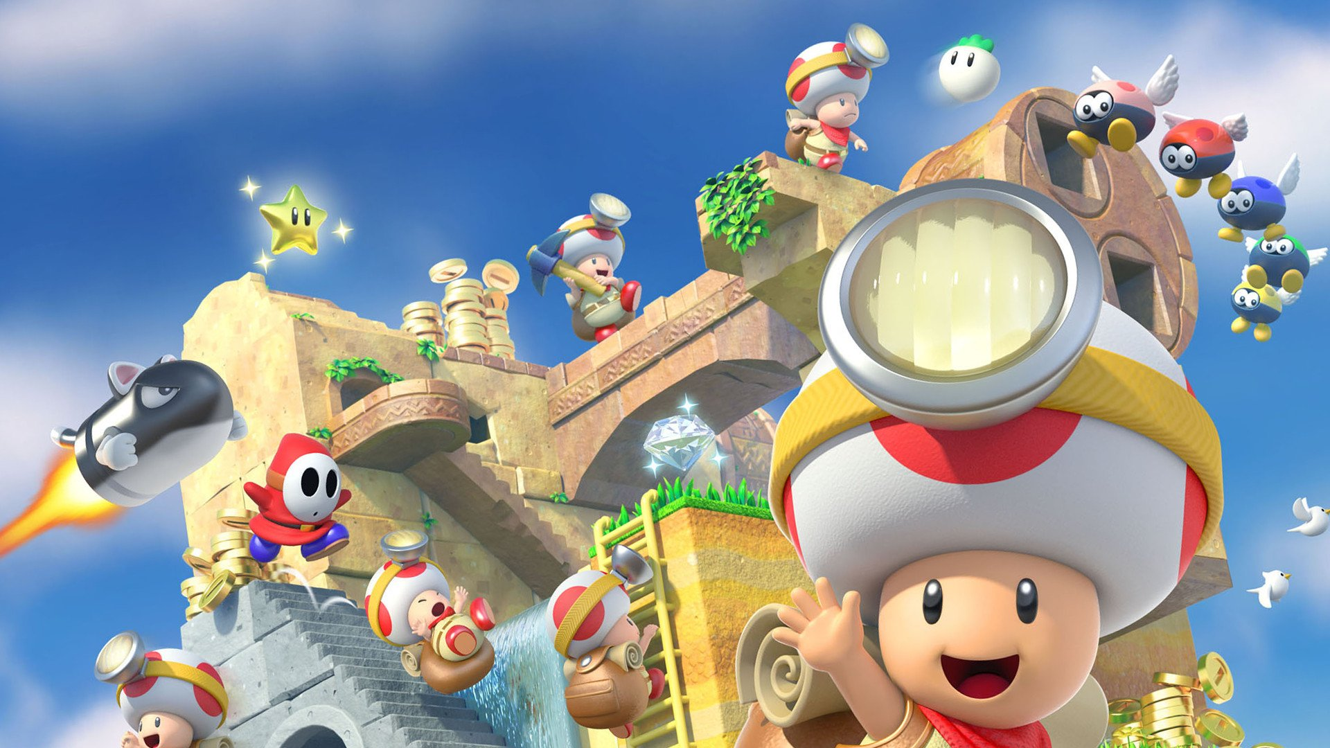 Captain Toad: Treasure Tracker artwork hello