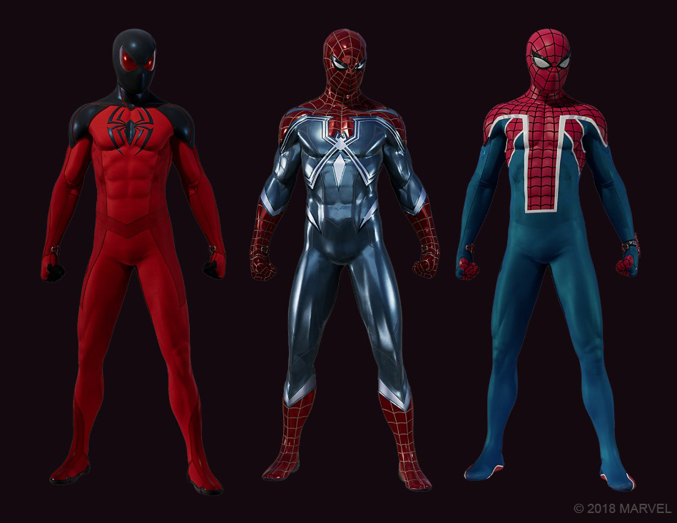 Spider-Man suits PS4