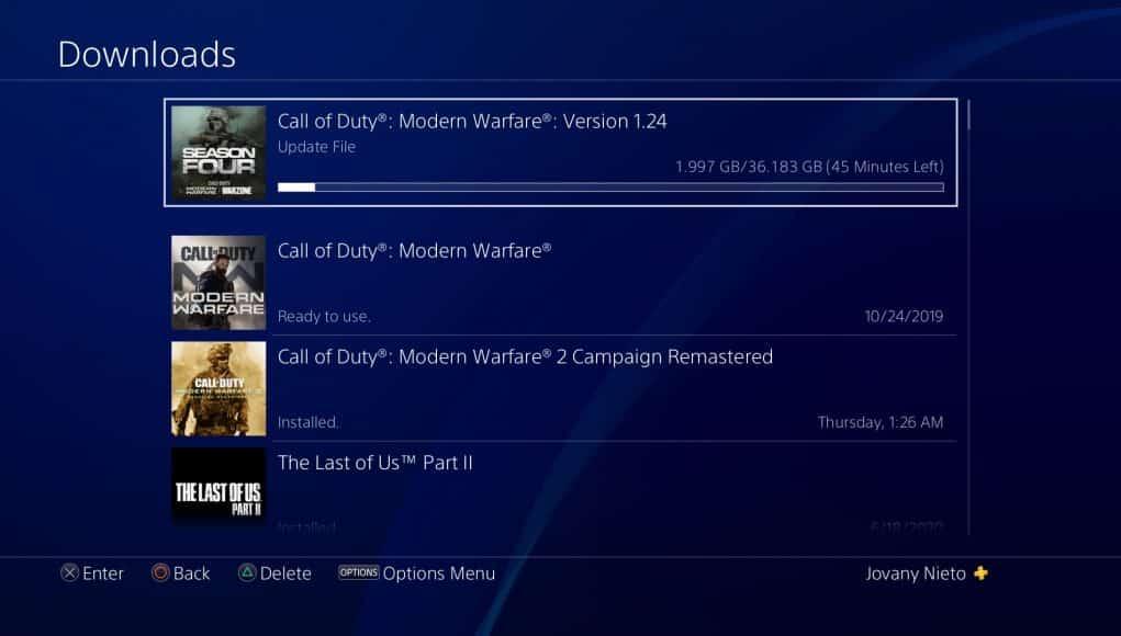 COD update