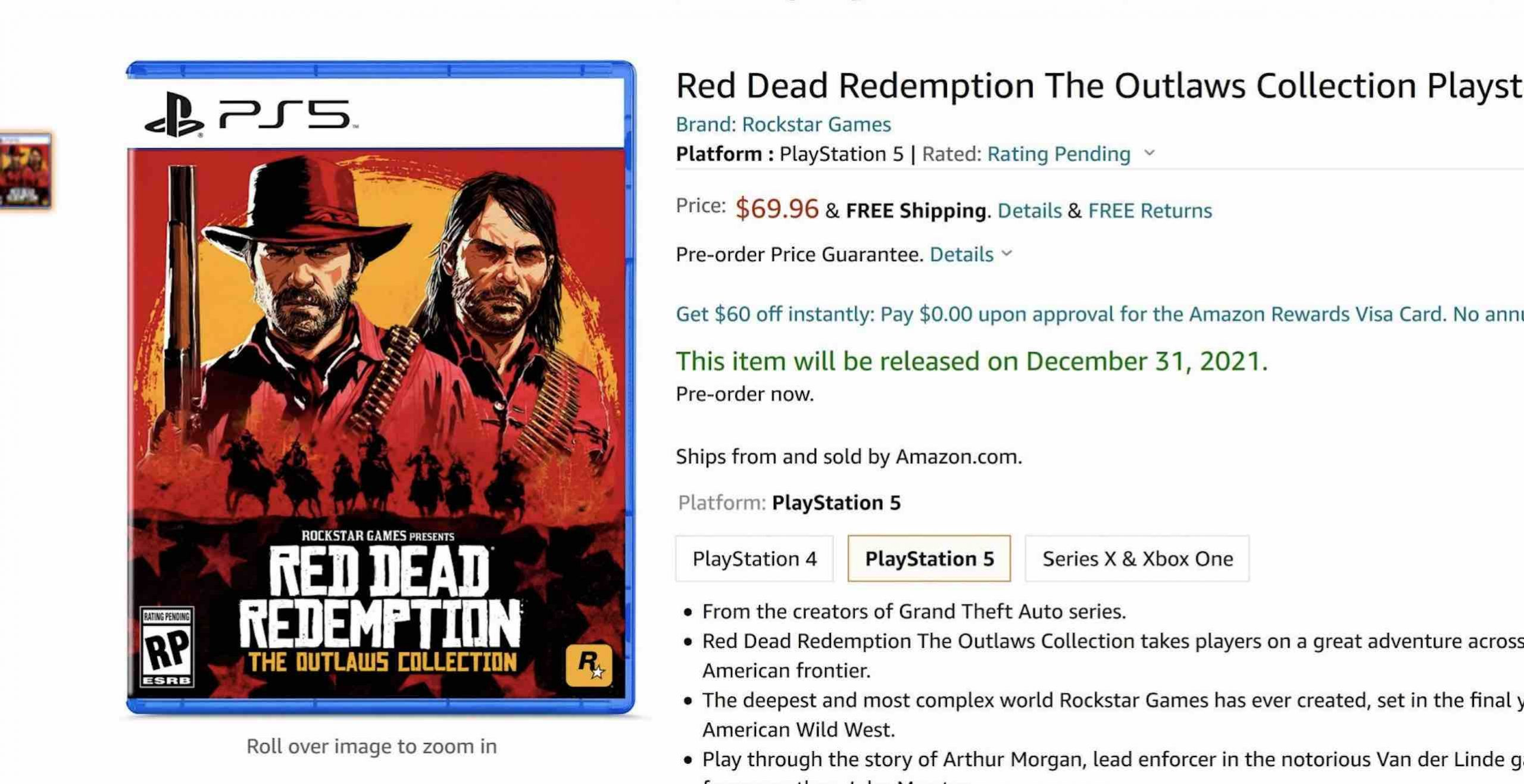 Red Dead PS5